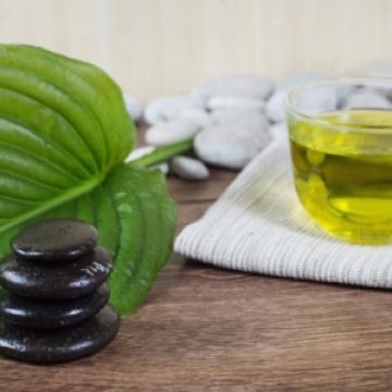 Zaļās tējas vannas sāls